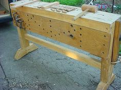 Pictures and description of my bench ( 11 pictures) woodworking bench woodworking bench bench base bench diy bench garage workbench bench plans bench plans australia bench plans roubo bench plans sketchup plans Woodworking Bench Plans, Workbench Plans, Fine Woodworking, Woodworking Crafts, Sketchup Woodworking, Garage Workbench, Tool Bench, Diy Bench, Build Your Own Garage