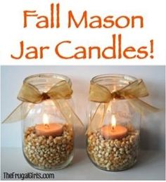 In addition to these Faith, Hope, and Love Mason Jar Candles, you'll love these festive Fall Mason Jar Candles, full of harvest-season flair!