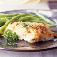 Easy Baked Fish Fillets by Cooking Light. Looking for a simple fish dinner? Try this easy recipe for baked fish fillets. You can use any firm white fish; cod, haddock, or grouper work well. Baked Fish Fillet, Baked Tilapia, Baked Cod, Oven Baked, Baked Swai, Baked Grouper, Baked Catfish, Baked Trout, Parmesan Tilapia