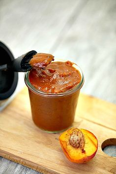 This was the best BBQ sauce. I am never buying it again! Fresh Peach BBQ Sauce #Low Calorie Low Fat Healthy Ingredients