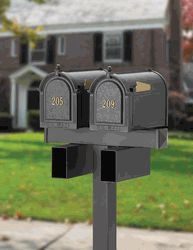White hall mailboxes.     Look for more varieties here: www.mailboxemporium.com