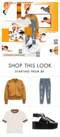 """Baby, we can fly.."" by nataliacvdo21 ❤ liked on Polyvore featuring Monki, Alexander Wang, vintage, orange, comeback, GOT7 and eommadontknowaboutgot7"
