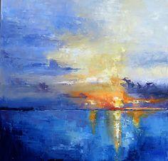 Ocean Sunset by james pratt Oil ~ 24 x 24