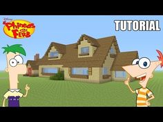 """Minecraft Tutorial: How To Make """"Phineas and Ferb's"""" House! """"Phineas and Ferb"""" (Survival House) - YouTube"""