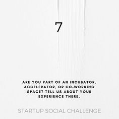 Part of our ongoing social media challenge for startups    Our goal is to encourage startups to share their narrative in creative ways by providing a series of thought provoking questions and prompts.   Let's have some fun with this and hopefully spark some friendly discussions as well!   To participate be sure to use #startuphereto and tag @startuphereto for a chance to be featured on their IG feed.  Startup Here Toronto is dedicated to celebrating Toronto's innovative startup community…