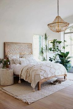 17 Boho Chic Bedroom Designs to enter the variety in the home - interior - Apartment Decor Bohemian Bedrooms, Bohemian Bedroom Decor, Boho Room, Home Decor Bedroom, Modern Bedroom, Bedroom Ideas, Bedroom Designs, Bohemian Headboard, Bedroom Furniture