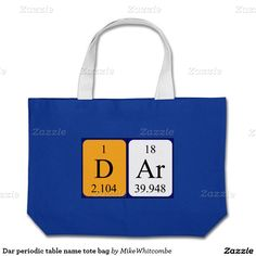 Ruth periodic table name tote bag periodic table and tote bag dar periodic table name tote bag urtaz Gallery