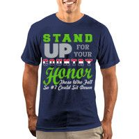 Stand Up For Your Country So #7 Could Sit Down | T-Shirt $22.00  Stand Up For Your Country, Honor Those Who Fell, So #7 Could Sit Down. You're a Seahawks Fan, You're A Patriot and You Respect The National Anthem. The name Colin Kaepernick makes you cringe. This T-shirt makes it clear why. Sales End September 6th. Orders ship the next week. #seahawks #patriot #kaepernick