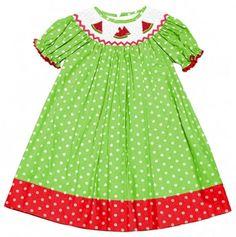 Watermelon Smocked Dress