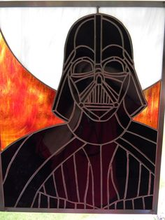Darth Vader Stained Glass (in progress) 3rd of the series