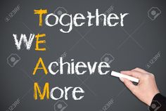 Together We Achieve More Stock Photo