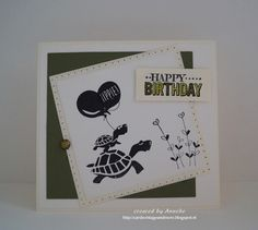 card made with stamps from catsonappletrees