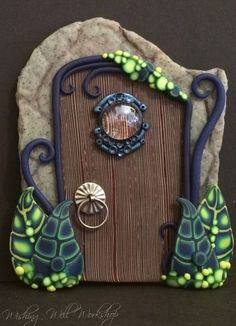 Polymer Clay Fairy Door by missfinearts on DeviantArt