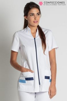 Uniformes para medicos - Confecciones cstradha, Santo Domingo, RD Spa Uniform, Hotel Uniform, Beautiful Nurse, Nurse Costume, Medical Uniforms, Uniform Design, Medical Scrubs, Nursing Clothes, Professional Women