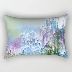 Buy Wild Nature Glitch - Blue, Green, Ultra Violet #nature #homedecor Rectangular Pillow by Dominique Vari on Throw Pillow / Cushion on Society6 . | . #interiors #interiorstyling #homedecor #pillow #cushion #rectangular #pillowtalk #abstract #glitchart #glitch #generativeart #nature #succulents #greenery #dynamic #modernart #blue #ultraviolet #dominiquevari #society6