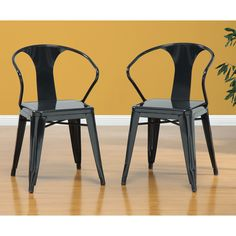 Black Tabouret Stacking Chairs (Set of 4) - Overstock™ Shopping - Great Deals on Dining Chairs 200
