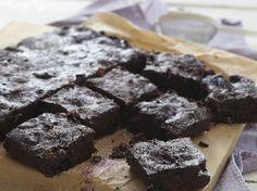 Port-soaked cherry & Dark Chocolate Brownies