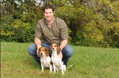 Hockey players and their beagles... Troy Brouwer.