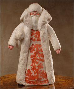§§§ : antique spun cotton Santa with papier mache face