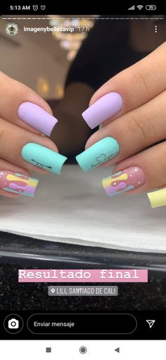 Dream Nails, Love Nails, How To Do Nails, Acrylic Nails Coffin Short, Best Acrylic Nails, Judy Nails, Precious Nails, Nails For Kids, Pretty Nail Art