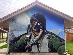 Hungary, by TakerOne Photorealistic Graffiti