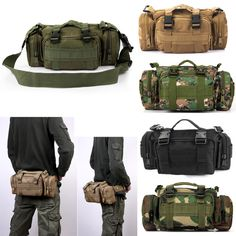 Outdoor Military Tactical Waist Pack Shoulder Molle Camping Hiking Pouch  Bag-in Climbing Bags from Sports   Entertainment on Aliexpress.com  512827a0a95