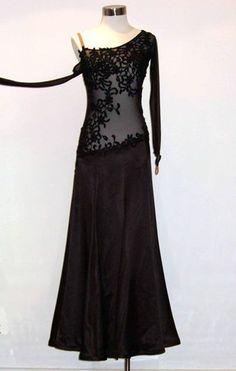 U0304 Organza Women Ballroom tango waltz salsa standard dance dress Custom made #seahunter