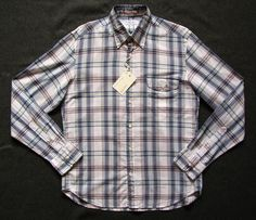 GANT RUGGER VACAY MADRAS MENS M medium PLAID BUTTON DOWN SHIRT NEW NWT #GANT #ButtonFront