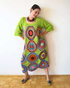 Green Crochet Dress...