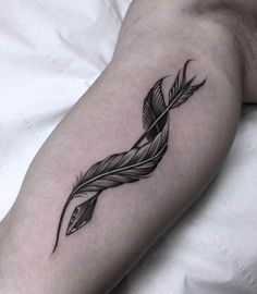 Arrow & Feather Tatt