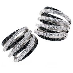 Leo Pizzo - Rings in white gold with white and black diamonds