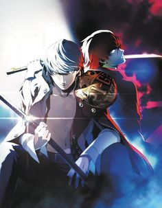 Yu Narukami and Sho Minazuki from Persona 4 Arena Ultimax Persona 4 Manga, Persona Q, Atlus Games, Yu Narukami, Shin Megami Tensei Persona, Another Anime, Action Poses, Animation Film, Game Art
