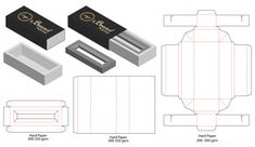 Box packaging die cut template design Perfume Packaging, Tea Packaging, Packaging Design, Restaurant Flyer, Modern Restaurant, Restaurant Tables, Diy Gift Box, Diy Box, Vintage Logo Design