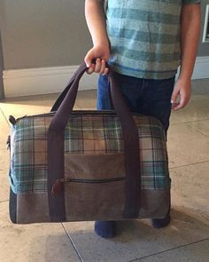 7e9bb77256 Having fun trying to shrink my weekender bag pattern and the perfect 4 year  old came