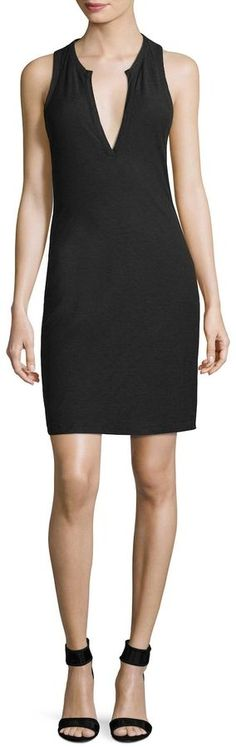 James Perse Women's Open Henley Tank Dress