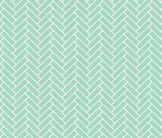 herringbone milk glass fabric by ninaribena on Spoonflower - custom fabric