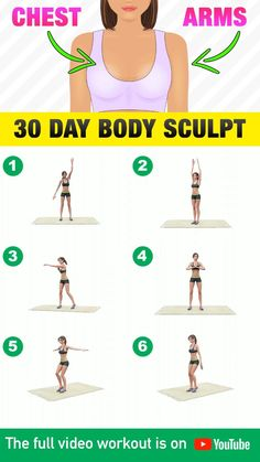 Upper Body Weight Workout, Full Body Gym Workout, Gym Workout Videos, Gym Workout For Beginners, Fitness Workout For Women, Fitness Workouts, Workout Programme, Tone Arms Workout, Monthly Workouts