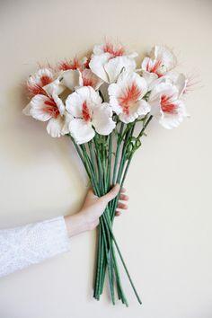 Paper Flowers Homemade Flowers : Venus White