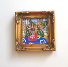 Acrylic Sunflowers Still life Painting Miniature by BrookeHowie, $26.00