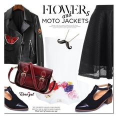 """""""After Dark: Moto Jackets"""" by mada-malureanu ❤ liked on Polyvore featuring Comme des Garçons, vintage, motojackets and rosegal"""