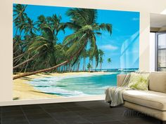 South Sea Beach Landscape Huge Wall Mural Art Print Poster Wallpaper Mural at AllPosters.com
