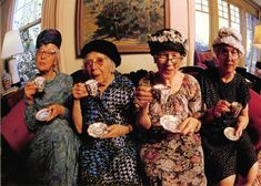 The true German Coffee is the Kaffeeklatsch. Meaning the lively female conversations and gossip (as well as educated talks) over coffee and cake.