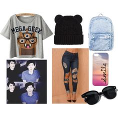 """with Dan and Phil"" by audrey-5sos on Polyvore"