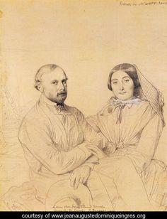Edmond Ramel and his wife, born Irma Donbernard by Ingres