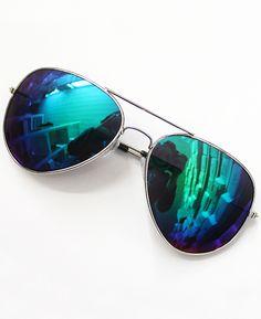 Gafas de sol lentes plateados-azul 9.55