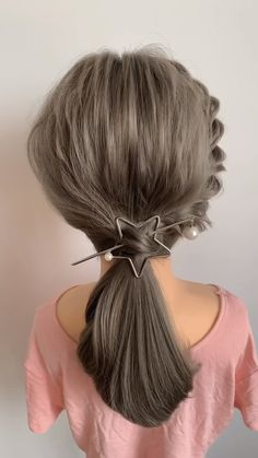 Access all the Hairstyles: - Hairstyles for wedding guests - Beautiful hairstyles for school - Easy Hair Style for Long Easy Hairstyle Video, Long Hair Video, Girl Hairstyles, Braided Hairstyles, Hairstyle Tutorials, Korean Hairstyles Women, Easy Party Hairstyles, Step Hairstyle, Hairstyles Videos