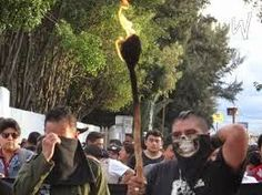 """Movilización en Oaxaca """"Una luz por Ayotzinapa"""": ¡VIVOS SE LOS LLEVARON, VIVOS LOS QUEREMOS!"""