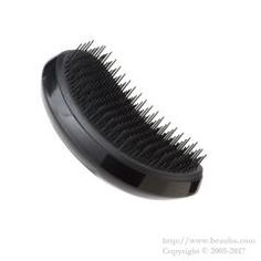 https://www.beauba.com/products/detail.php?product_id=14385 Tangleteezer Elite Hair Brush Black. #HairStylingTools #Brush  Detangles hair without damaging. The long and short bristles implanted in alternate shifts will brush hair while protecting. Using before blow drying will protect cuticles.