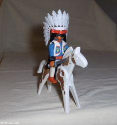 Playmobil personnage - indien à cheval (pl19)