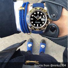 Perlon Strap Blue Color - 18mm, 20mm by decowrist.com